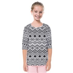 Aztec Design  Pattern Kids  Quarter Sleeve Raglan Tee