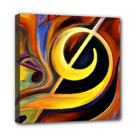 Art Oil Picture Music Nota Mini Canvas 8  X 8  by BangZart