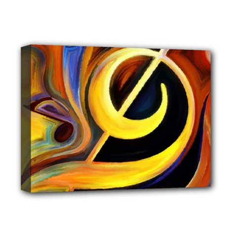 Art Oil Picture Music Nota Deluxe Canvas 16  X 12   by BangZart