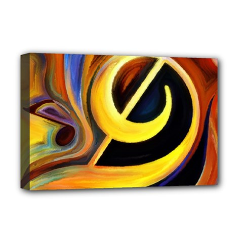 Art Oil Picture Music Nota Deluxe Canvas 18  X 12   by BangZart