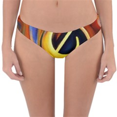 Art Oil Picture Music Nota Reversible Hipster Bikini Bottoms