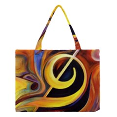 Art Oil Picture Music Nota Medium Tote Bag by BangZart