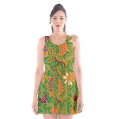 Art Batik The Traditional Fabric Scoop Neck Skater Dress by BangZart