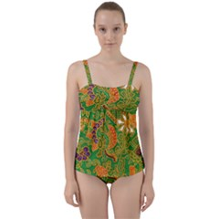 Art Batik The Traditional Fabric Twist Front Tankini Set by BangZart