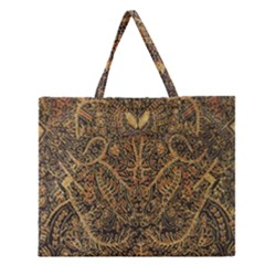 Art Indonesian Batik Zipper Large Tote Bag by BangZart