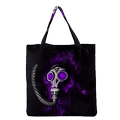 Gas Mask Grocery Tote Bag by Valentinaart