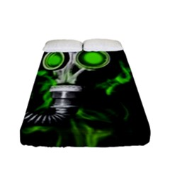 Gas Mask Fitted Sheet (full/ Double Size) by Valentinaart