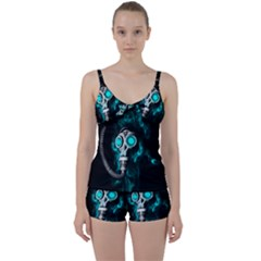 Gas Mask Tie Front Two Piece Tankini