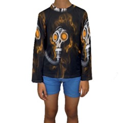 Gas Mask Kids  Long Sleeve Swimwear