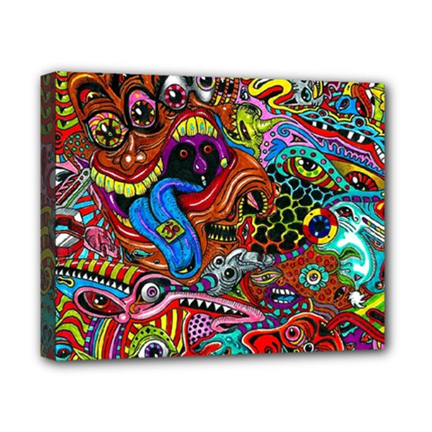 Art Color Dark Detail Monsters Psychedelic Canvas 10  X 8  by BangZart