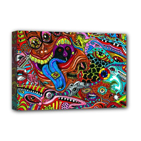 Art Color Dark Detail Monsters Psychedelic Deluxe Canvas 18  X 12   by BangZart