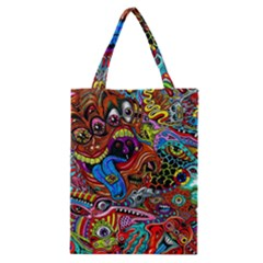 Art Color Dark Detail Monsters Psychedelic Classic Tote Bag