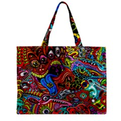 Art Color Dark Detail Monsters Psychedelic Zipper Mini Tote Bag