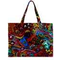 Art Color Dark Detail Monsters Psychedelic Zipper Mini Tote Bag View2