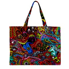 Art Color Dark Detail Monsters Psychedelic Medium Tote Bag by BangZart