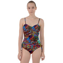 Art Color Dark Detail Monsters Psychedelic Sweetheart Tankini Set