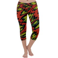 Distorted Shapes                            Capri Yoga Leggings