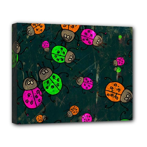 Abstract Bug Insect Pattern Deluxe Canvas 20  X 16