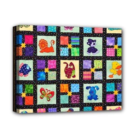 Animal Party Pattern Deluxe Canvas 14  X 11  by BangZart