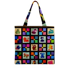 Animal Party Pattern Zipper Grocery Tote Bag by BangZart