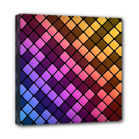 Abstract Small Block Pattern Mini Canvas 8  X 8  by BangZart