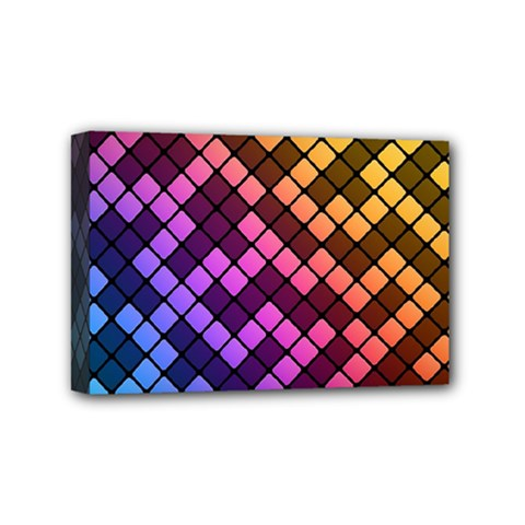 Abstract Small Block Pattern Mini Canvas 6  X 4  by BangZart