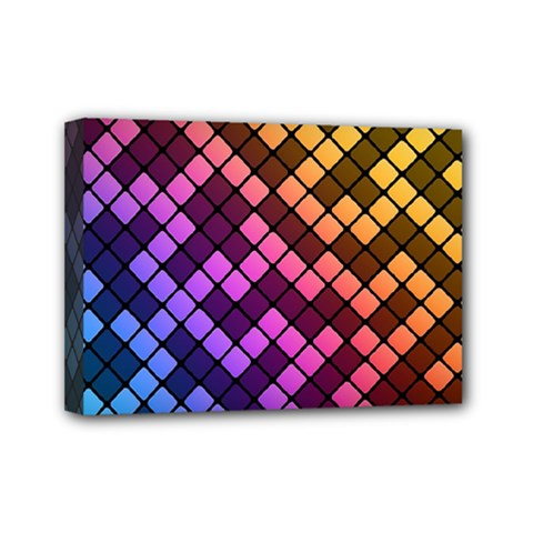 Abstract Small Block Pattern Mini Canvas 7  X 5  by BangZart