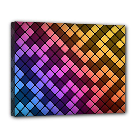 Abstract Small Block Pattern Canvas 14  X 11  by BangZart