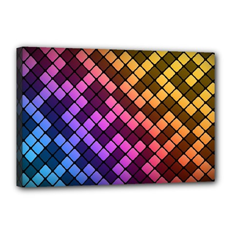 Abstract Small Block Pattern Canvas 18  X 12  by BangZart
