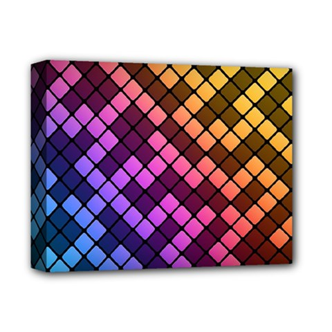 Abstract Small Block Pattern Deluxe Canvas 14  X 11  by BangZart