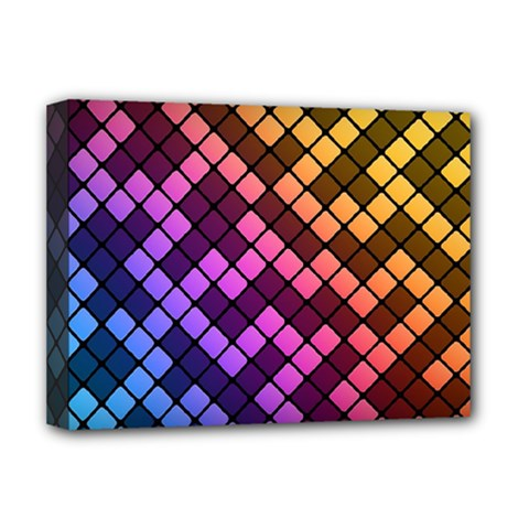 Abstract Small Block Pattern Deluxe Canvas 16  X 12   by BangZart