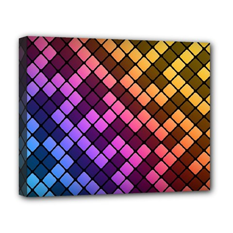 Abstract Small Block Pattern Deluxe Canvas 20  X 16   by BangZart