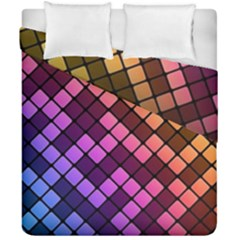 Abstract Small Block Pattern Duvet Cover Double Side (california King Size) by BangZart