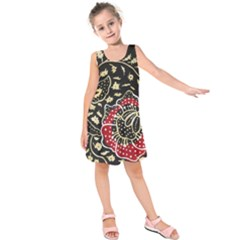 Art Batik Pattern Kids  Sleeveless Dress