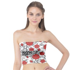 Texture Roses Flowers Tube Top