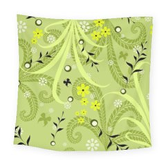 Flowers On A Green Background                           Fleece Blanket by LalyLauraFLM