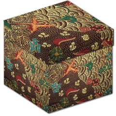 Art Traditional Flower  Batik Pattern Storage Stool 12
