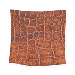Crocodile Skin Texture Square Tapestry (small) by BangZart