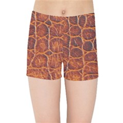 Crocodile Skin Texture Kids Sports Shorts by BangZart