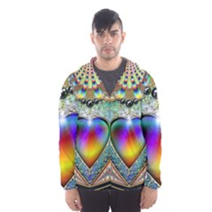 Rainbow Fractal Hooded Wind Breaker (men)