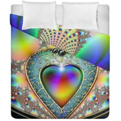 Rainbow Fractal Duvet Cover Double Side (california King Size) by BangZart