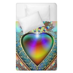 Rainbow Fractal Duvet Cover Double Side (single Size) by BangZart