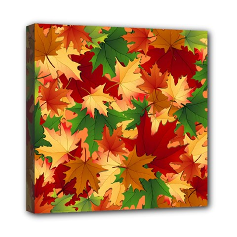Autumn Leaves Mini Canvas 8  X 8  by BangZart