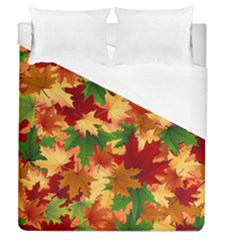 Autumn Leaves Duvet Cover (queen Size) by BangZart