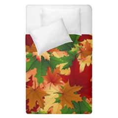 Autumn Leaves Duvet Cover Double Side (single Size) by BangZart