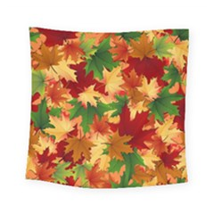 Autumn Leaves Square Tapestry (small) by BangZart