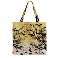 Crow Flock  Grocery Tote Bag by Valentinaart