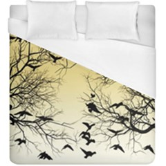 Crow Flock  Duvet Cover (king Size) by Valentinaart
