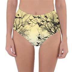 Crow Flock  Reversible High Waist Bikini Bottoms
