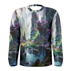 Fantastic World Fantasy Painting Men s Long Sleeve Tee by BangZart
